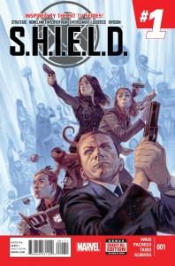 """S.H.I.E.L.D. #1"" Marvel Comics (w) Mark Waid (a) Carlos Pacheco (i) Jason Paz (c) Dono Almara $4.99 (US)"