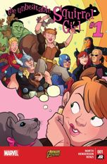 """Unbeatable Squirrel Girl #1″  (w) Ryan North  (a) Erica Henderson  Marvel Comics  $3.99"