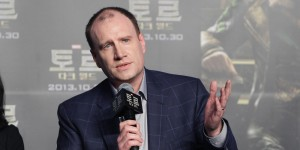 SEOUL, SOUTH KOREA - OCTOBER 14:   President of Production at Marvel Studios Kevin Feige attends the 'Thor: The Dark World' press conference at  Conrad Hotel on October 14, 2013 in Seoul, South Korea.  Kevin Feige is visiting with actor Tom Hiddleston South Korea to promote their recent film 'Thor: The Dark World' which will be released in South Korea on October 30.  (Photo by Chung Sung-Jun/Getty Images)